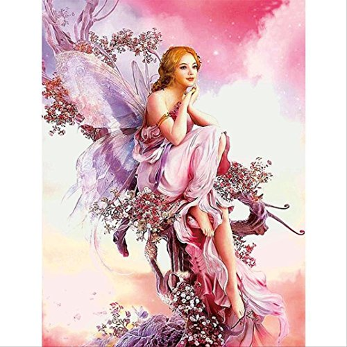 TiTCool 5D Diamond Painting, Retro Fairy Elf FULL Drill Rhinestone Pasted Craft DIY Home Decorative
