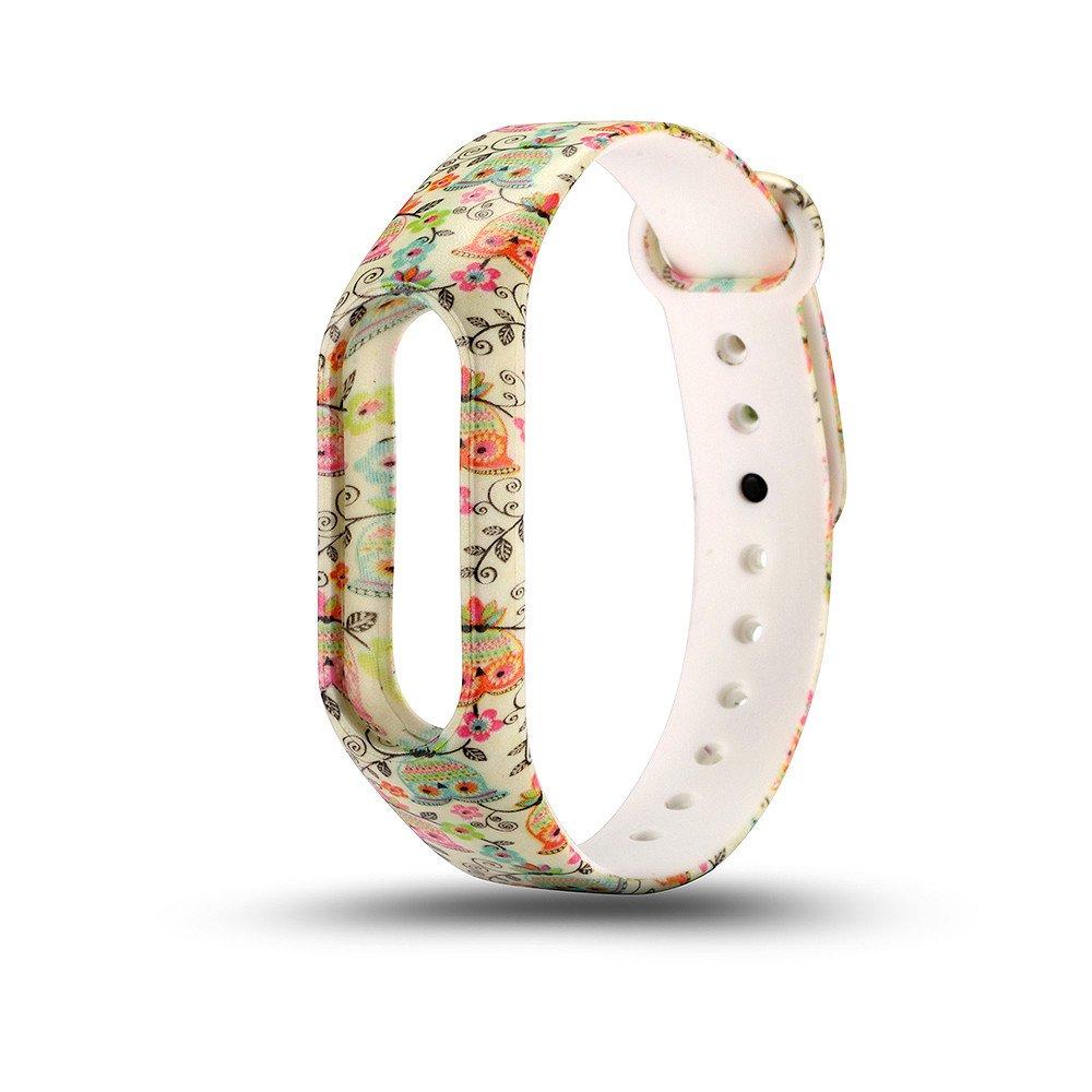 Modaworld _Correa de reloj Correa de muñeca Nuevo reemplazo de Pulsera de Pulsera de Correa de Silicona para XIAOMI MI Band 2 (B): Amazon.es: Deportes y ...