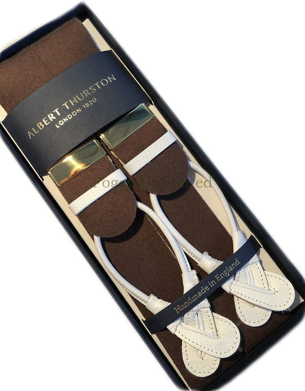 Albert Thurston Boxcloth braces leather end button on