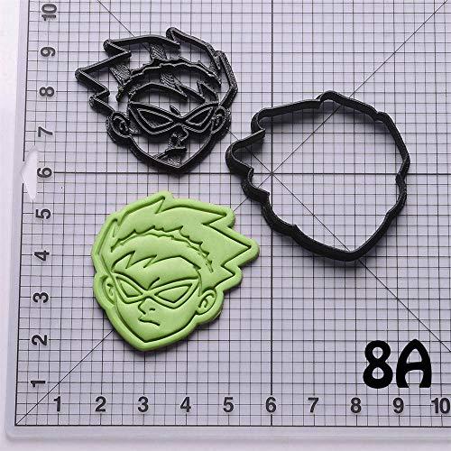 1 piece Teen Titans Cyborg Shape Design Cake Decorating Tools Custom Made 3D Printed Cookie Cutter Cookie Molds Fondant Cutter (Printed Custom Cookies)