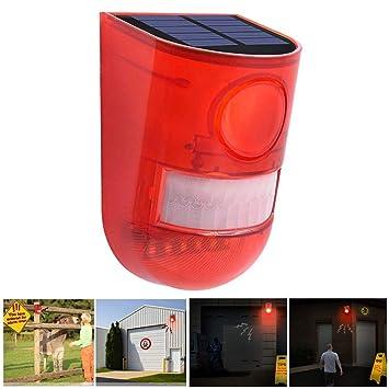 Amazon.com: SiFREE Solar Powered Sound Alarm Strobe Light ...