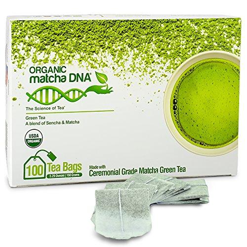Matcha Teabags MatchaDNA Certified Organic Matcha Green Tea - 100 Tea Bags from MATCHA DNA
