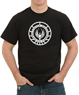 Battlestar Galactica GOLD SQUADRON PATCH Licensed Adult T-Shirt All Sizes