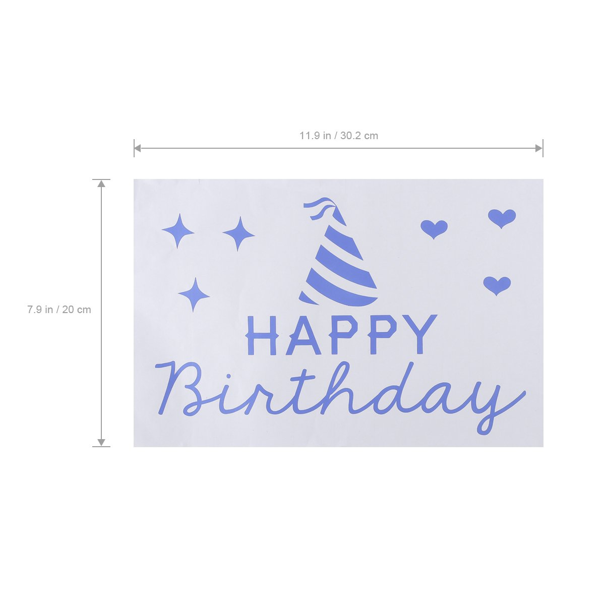 Amazon.com: ROSENICE Wall Quotes Stickers Happy Birthday ...