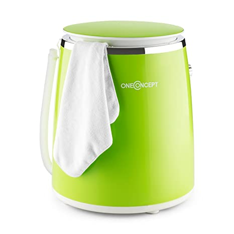 oneConcept Ecowash-Pico Mini lavadora portátil (380W potencia lavado, bajo consumo, 3