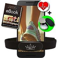 Fitness Prince© Heartbeat Dual Heart Rate Ant + Bluetooth Low Energy Real Time + Free Ebook - Compatibel met Garmin Wahoo Polar RUNTASTIC Strava ENDOMONDO Tomtom iPhone Borstband