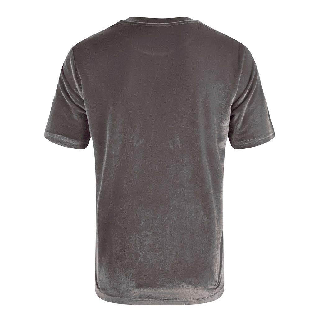 HimTak Mens Fashion T-Shirt Solid Color Short Sleeve Crew Neck T Shirt Personality Casual Tee