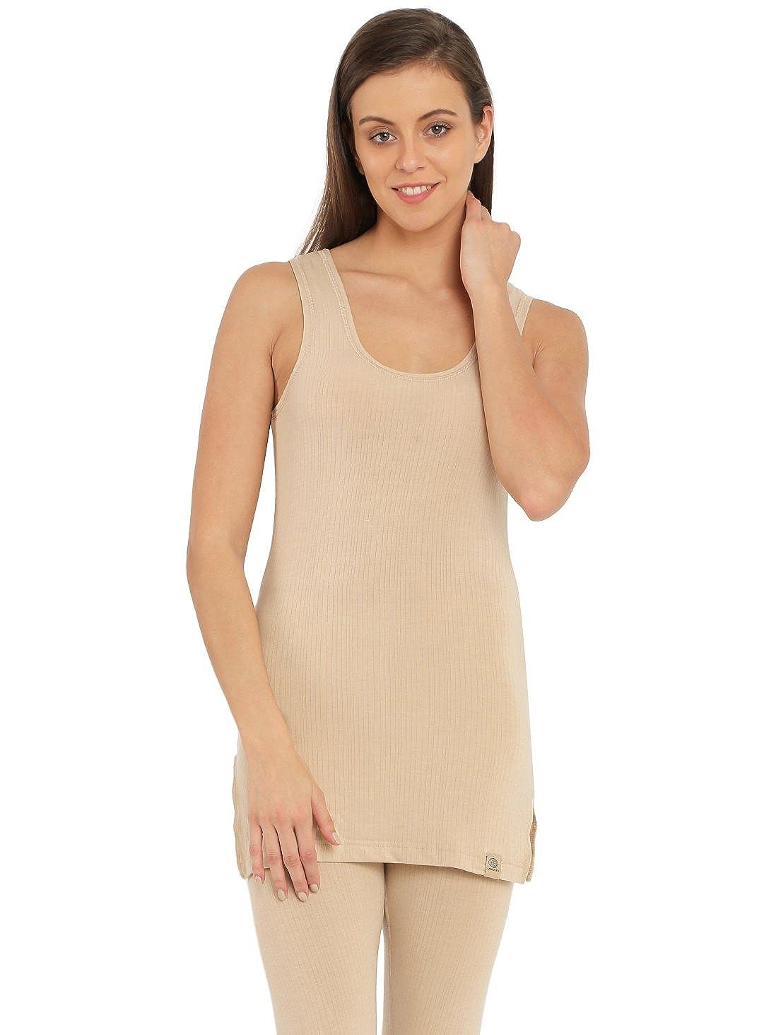 8afc10e5e6 Jockey Women s Thermal Top (2508-0105-TSKIN Small)  Amazon.in  Clothing    Accessories