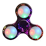Oyedens LED Light Tri-Spinner Fidget Toy Hand Spinner Stress Reducer Relieve Anxiety and Boredom Camo (Colorful B)