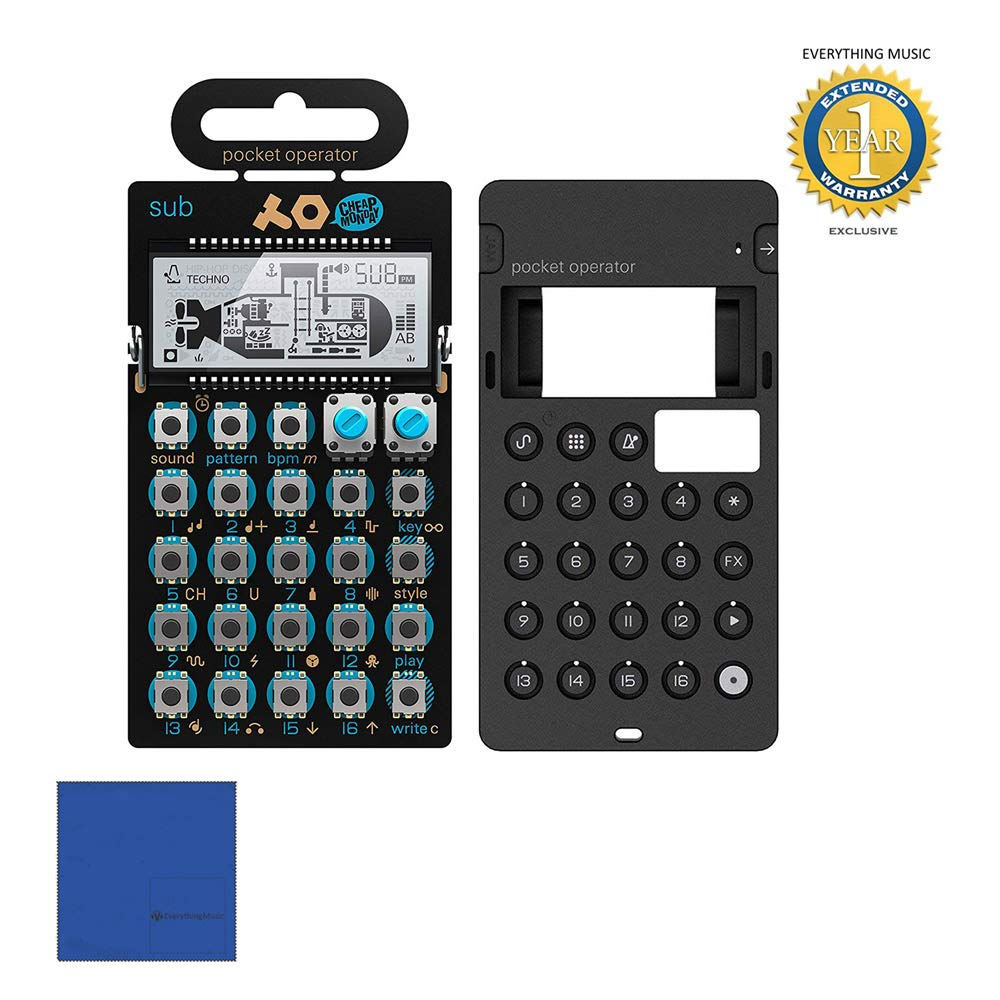 Teenage Engineering PO-14 Sub Bass Synthesizer & Silicone Case Bundle with Microfiber and 1 Year Everything Music Extended Warranty by teenage engineering.