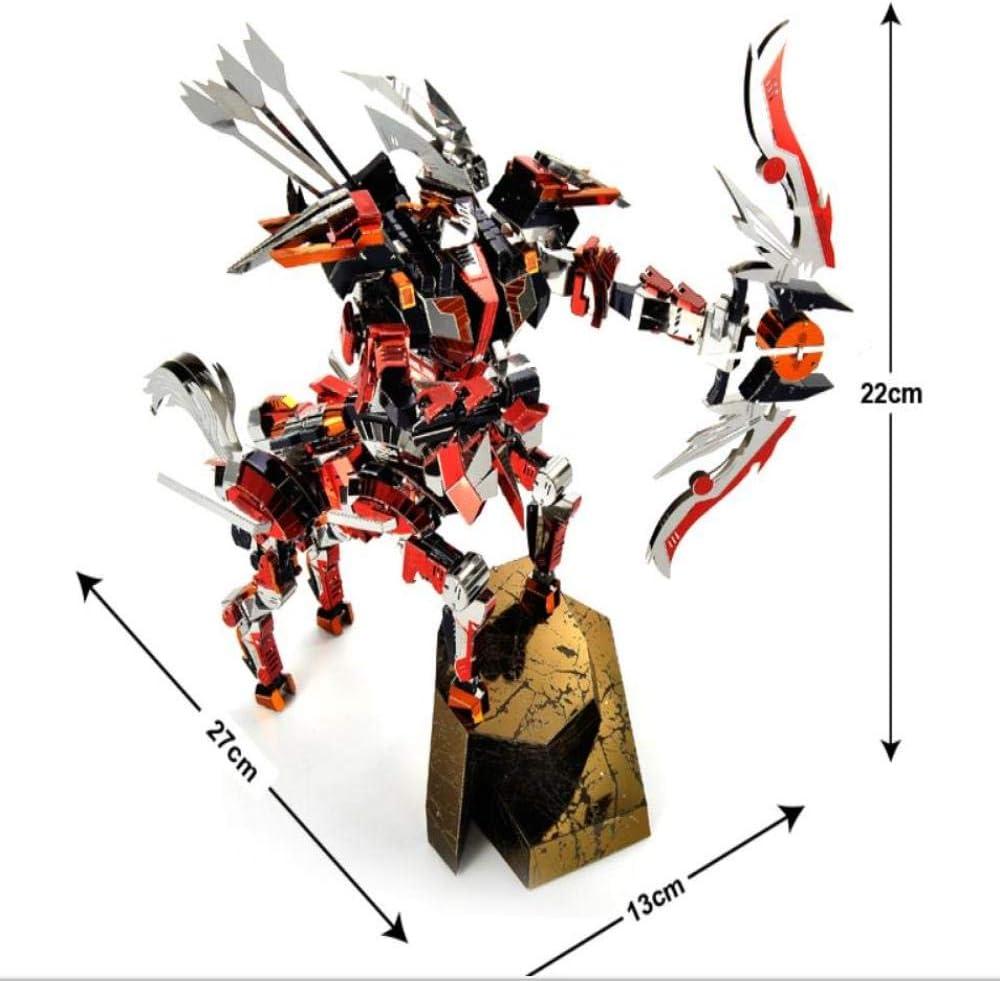 The Battle of Leaders - Son of the Wind Estéreo 3D Juguete de metal ensamblado DIY Laser Cut Jigsaw toys regalo/red + tool B/one size: Amazon.es: Hogar