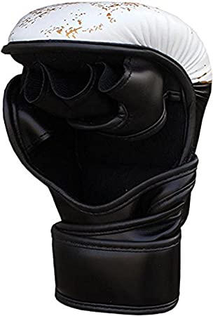 Farabi 7-oz MMA Gloves Hybrid Semi-Pro Open Hand Gloves Punching Training even Compition