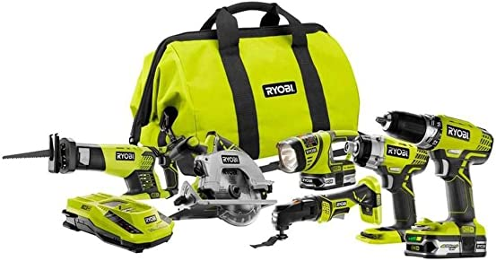 Ryobi ZRP884 18V One Plus Lithium-Ion Ultimate Combo Kit Renewed