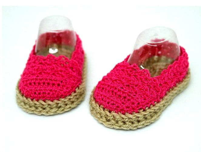 Alpargatas rosa para bebés, Zapatos de verano para bebés, Sandalias para bebés, Zapatos
