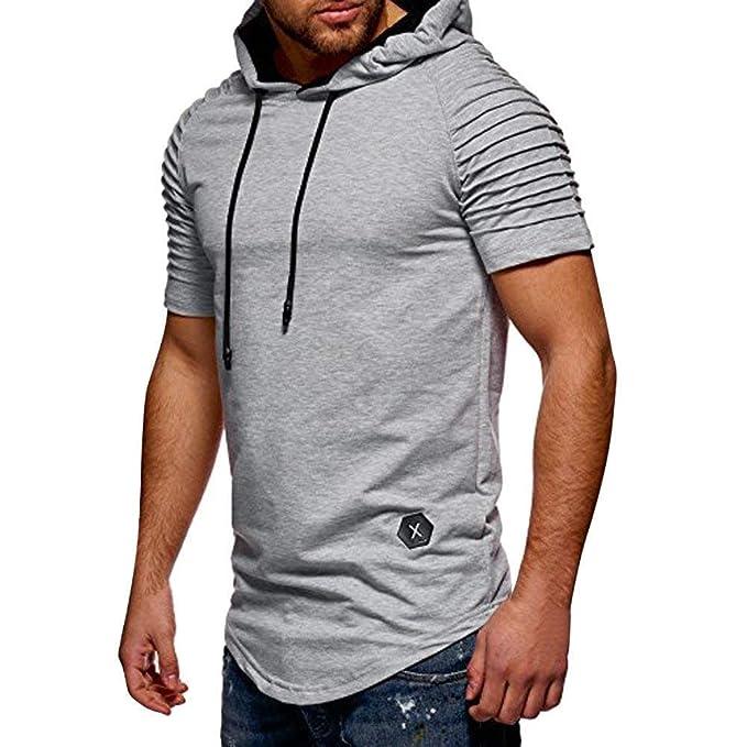 Ropa, Loveso Camiseta Hombre N Deportes Mens Sudaderas con Capucha Modernas Casual De Manga Corta