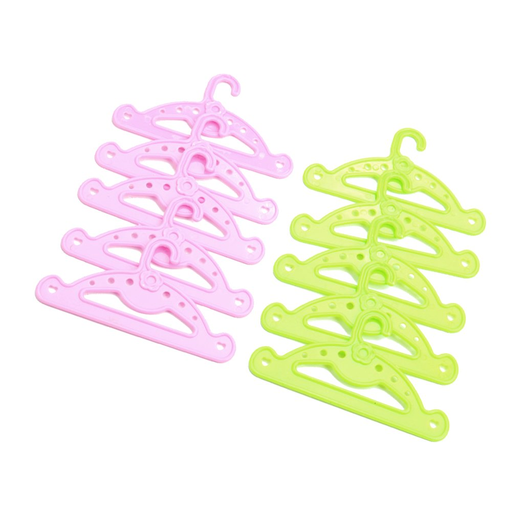 Homyl Excellent Workmanship 10 PCS Plastic Doll Costume Accessory Clothes Hangers For 18 Inch American Girl Doll