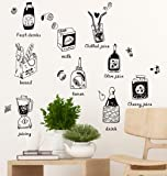 Amazon Brand - Solimo Wall Sticker for Dining Room (Cooking with Love, Ideal Size on Wall - 75 cm x 101 cm)
