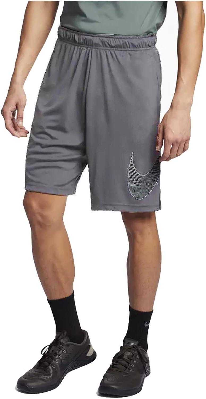Nike Mens Linear Logo Training Shorts Cool Grey/Black AQ5215-065 Size Medium