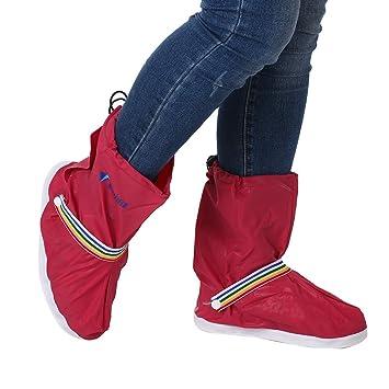 Zapatos cubierta de la lluvia de la nieve calzado antideslizante Rosa Más 8faE9l