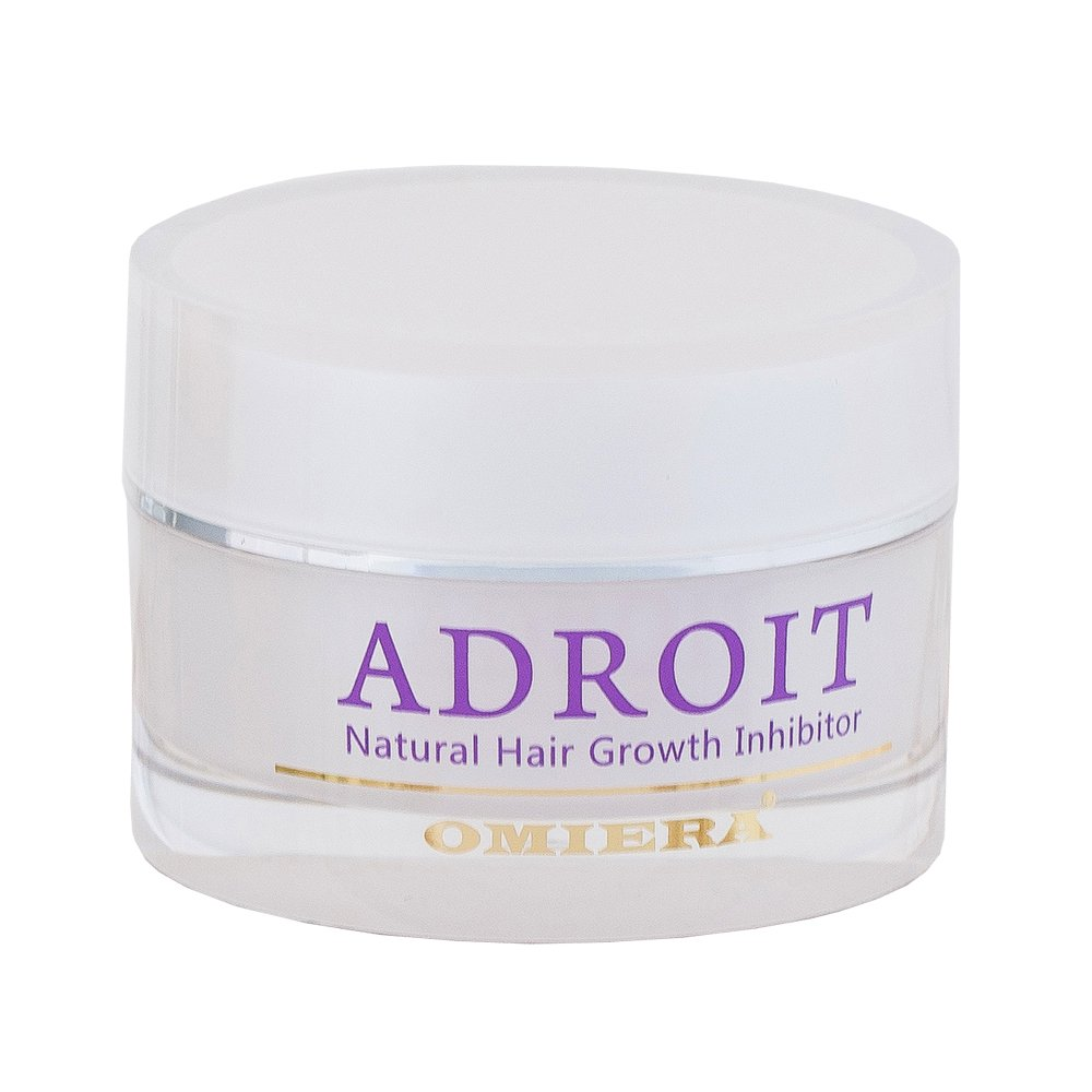 Omiera Adroit Natural Facial, Body, Bikini, And Legs Hair Growth Inhibitor Cream, Minimizes Growth of Unwanted Hair While Preventing Breakouts, After Epilation, Laser or Wax Cream, 1 Ounce