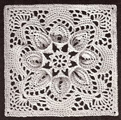 Amazon Vintage Crochet Pattern To Make Bedspread Motif Block