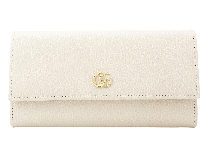 (グッチ) GUCCI 財布 長財布 二つ折り レザー GG 456116 [並行輸入品] B07B91J2SZホワイト