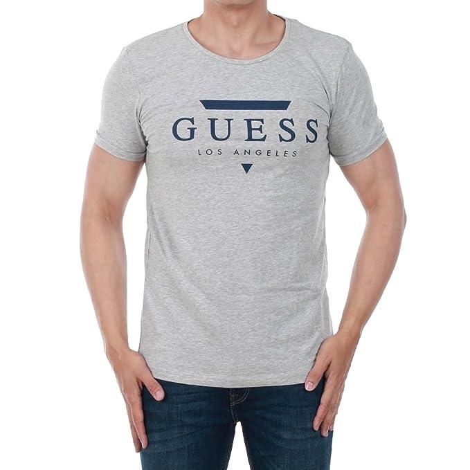 GUESS Camiseta Hombre Gris Claro U82M00JR00A-H905 26FAdpVjP
