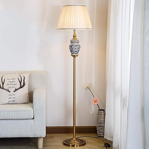 TYXWZL Lámpara de pie de cerámica Americana Simple y ...
