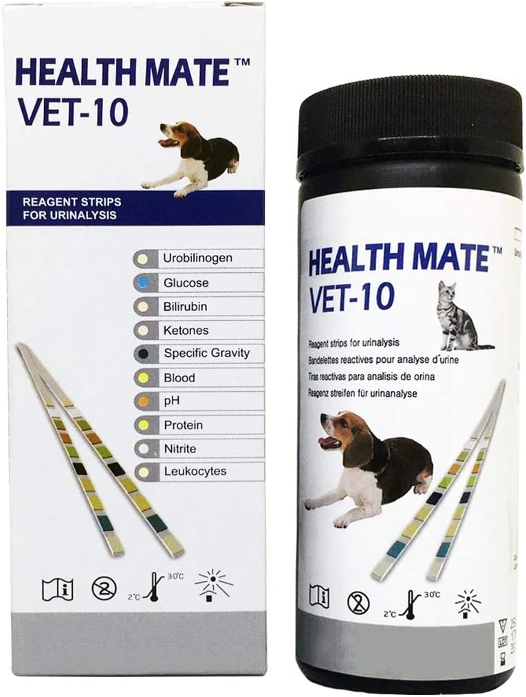 Easy Dog, Cat Pet Health Urine 10 Parameter Test Strips, Pack of 50 Tests