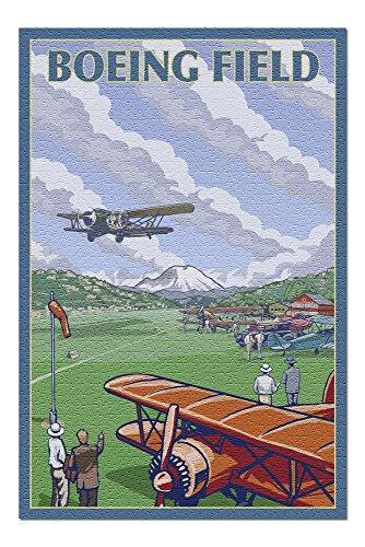 Seattle, WA - Boeing Field (20x30 Premium 1000 Piece Jigsaw Puzzle, Made in USA!)