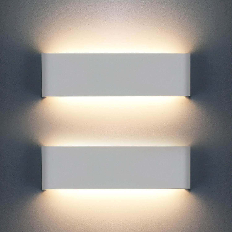 Soggiorno Applique da Parete Stile Moderno Scale Corridoio 12W 1200LM LED Lampada da parete 3000K Bianco Caldo Ideale per Camera da Letto Up Down Interni Lampada in Alluminio