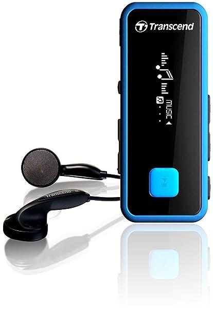 Transcend MP350 TS8GMP350B MP3 Player (8GB,Black and Blue)