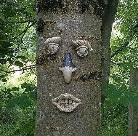 Garden mile árbol jardín FACIAL NOVEDAD ADORNO DECORACIÓN JARDÍN GRACIOSO facial PARED VALLA CASETA decoración - TF102: Amazon.es: Jardín