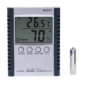 Minzhi HC520 Digital In/Out-Thermometer-Hygrometer-Temperatur ...