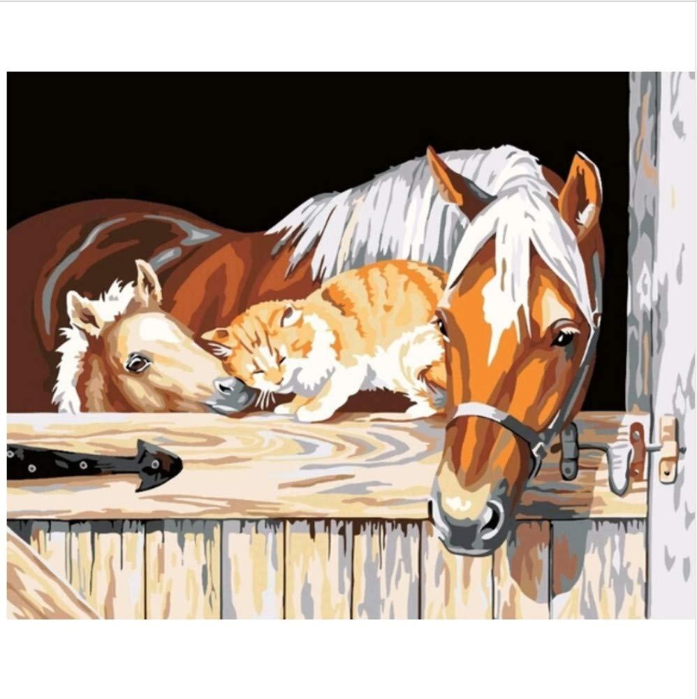 CZYYOU Bilder DIY Ölgemälde Durch Zahlen Zahlen Zahlen Dekoration Malerei & Kalligraphie Wandkunst Für Wohnzimmer 40x50cm-Rahmenlos 47216a