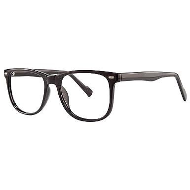 9ed8ac0f0fc Surreal Unisex Eyeglasses - Modern Collection Frames - Black 53-17-145