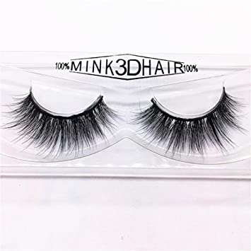7e3a17611dc Amazon.com : NewKelly 1 Pair Luxury 3D False Lashes Fluffy Strip Eyelashes  Long Natural Party (A) : Beauty