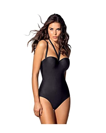 f43638155 Leonisa One Piece Strapless Swimsuit with Tummy Control at Amazon Women s  Clothing store