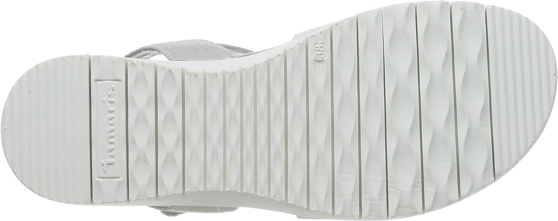 Tamaris 1-1-28327-22, Sandales Bride Cheville Femme Blanc White 100