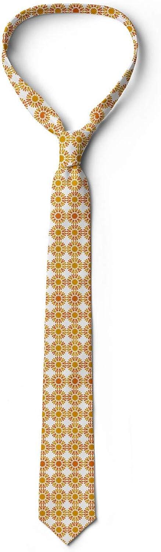 Orange Burnt Orange Monochrome Abstract Flowers 3.7 Ambesonne Necktie