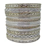 Set of Silvertone Bangle Bracelets for Women