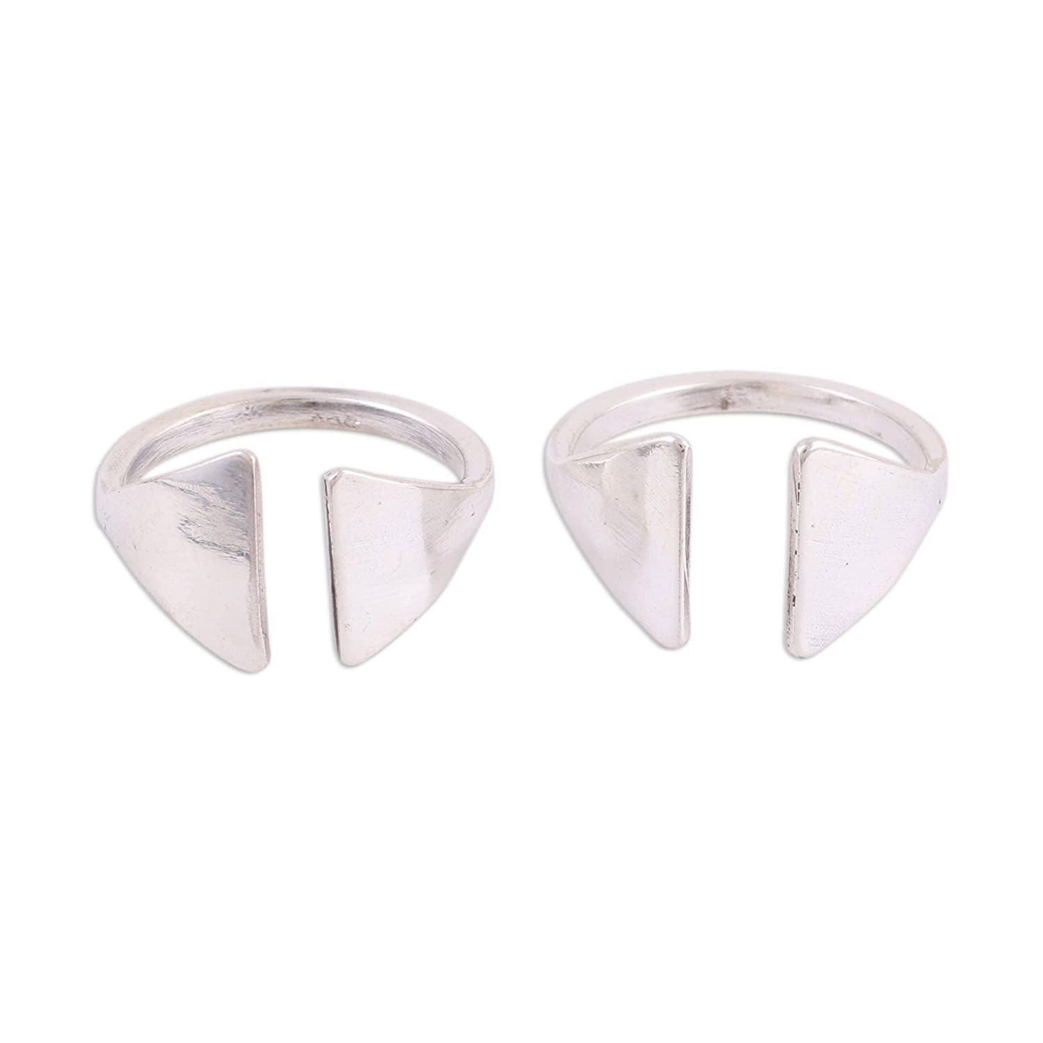 NOVICA .925 Sterling Silver Toe Rings Gateway Pair