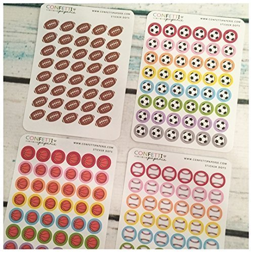 SPORTS MEGA Bundle, Game, Practice Planner Stickers, Erin Condren Stickers, Life Planner Stickers, Planner Accessory by Confetti Paperie
