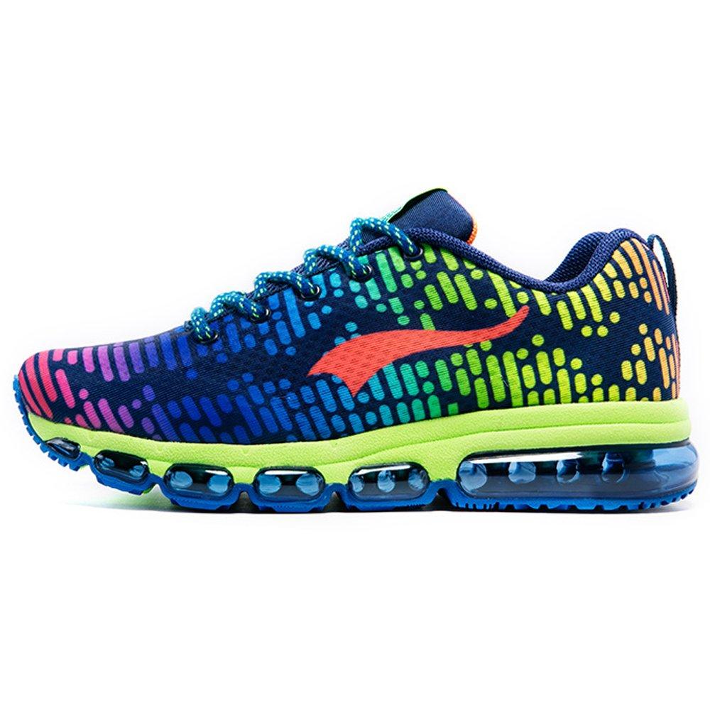 ONEMIX Air Zapatillas de Running Para Hombre Mujer Zapatos Para Correr 44 EU|Morado, verde