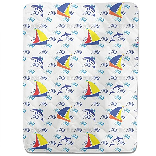 Jumping Dolphins Fitted Sheet: King Luxury Microfiber, Soft, Breathable by uneekee