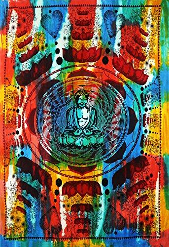 Future Handmade Meditation Lord Buddha lotus tapestry wall tapestry hippie tapestry wall hanging Indian psychedelic tapestry mandala beach throw boho …