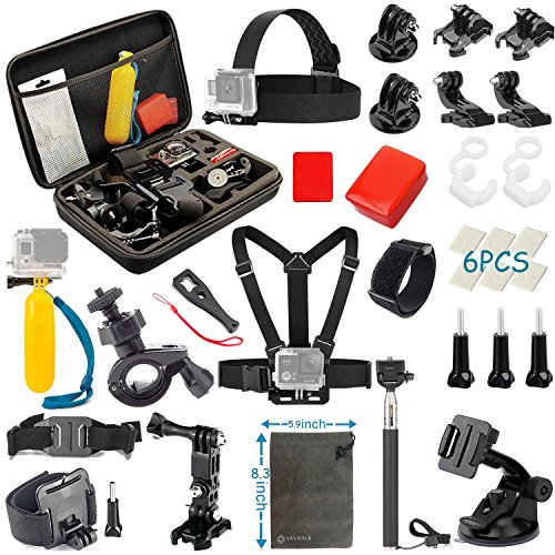 Modohe Basic Common Accessories for GoPro HERO5 Session 4/3+/3/2/1 Camera, DBPOWER, AKASO, Canany, Lightdow,...