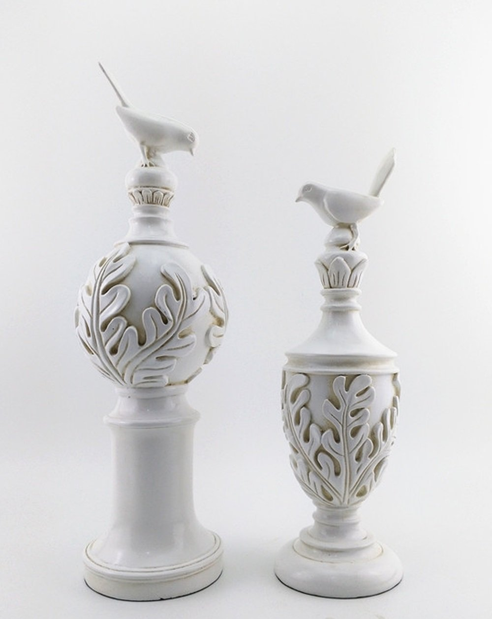 Bwlzsp 1 pair Soft design white nostalgic bird ornaments European-style American country French model room window club LU709146