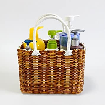 Amazon.com : SEESUNG Plastic Woven Baskets Shopping Baskets Picking ...
