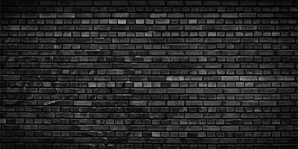 Yeele 20x10ft Vinyl Vintage Black Brick Wall Backdrop for Photography Retro Brick Wall Background Kids Adult Photo Booth Shoot Studio Props